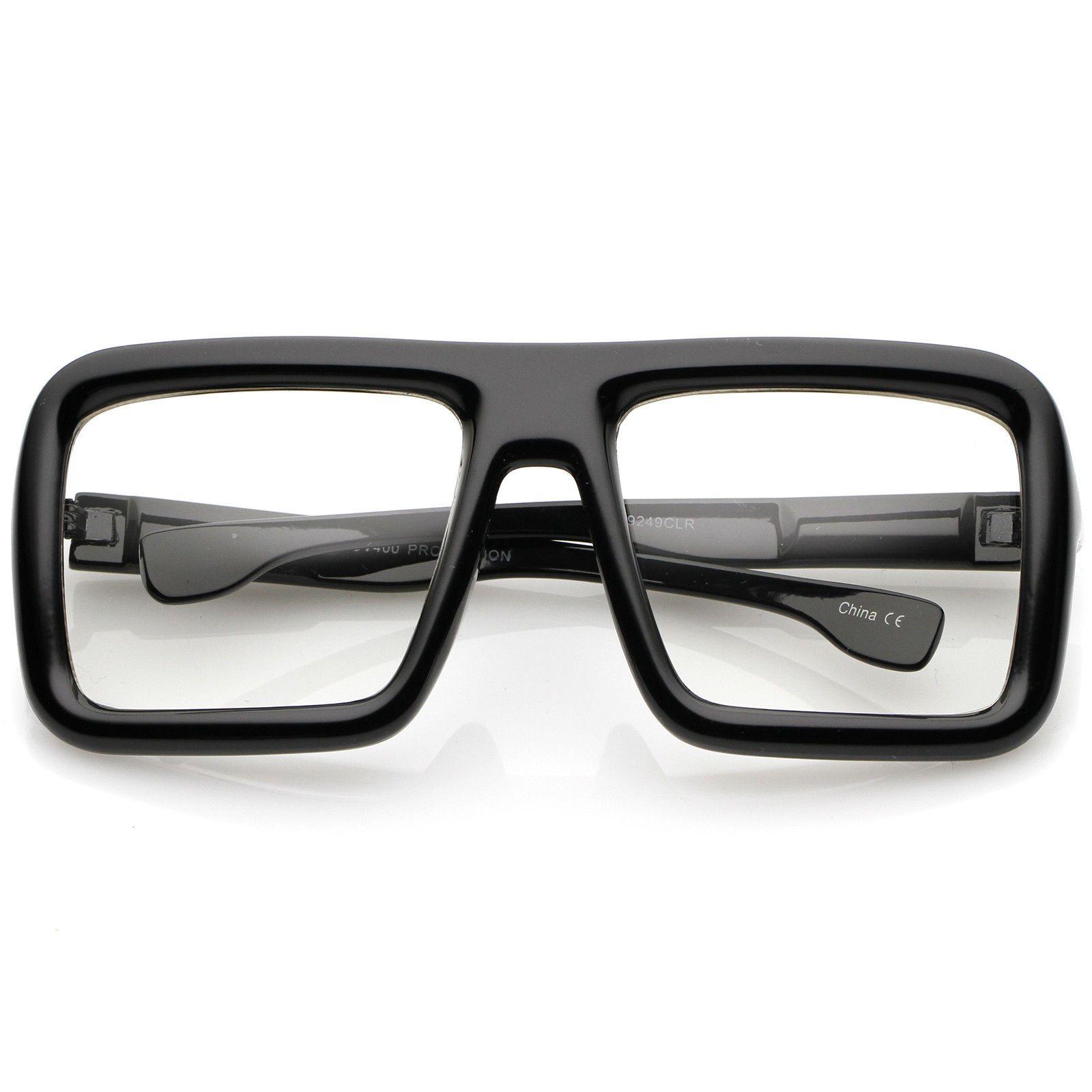 fa9ef488ce Sunglassla Oversize Bold Thick Frame Clear Lens Square Eyeglasses ...