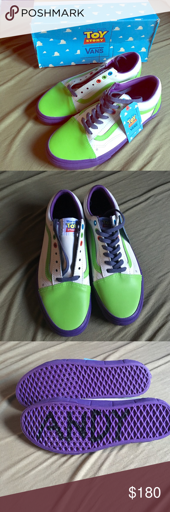 c69d8ab6e44822 Toy Story Vans Toy Story limited edition vans. Old skool Buzz Lightyear.  Brand new
