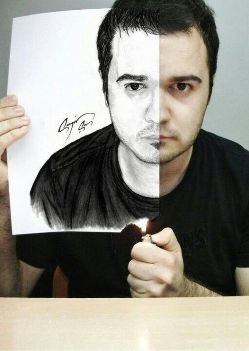 Good idea cool profile picture idea drawings for Ideas for pictures