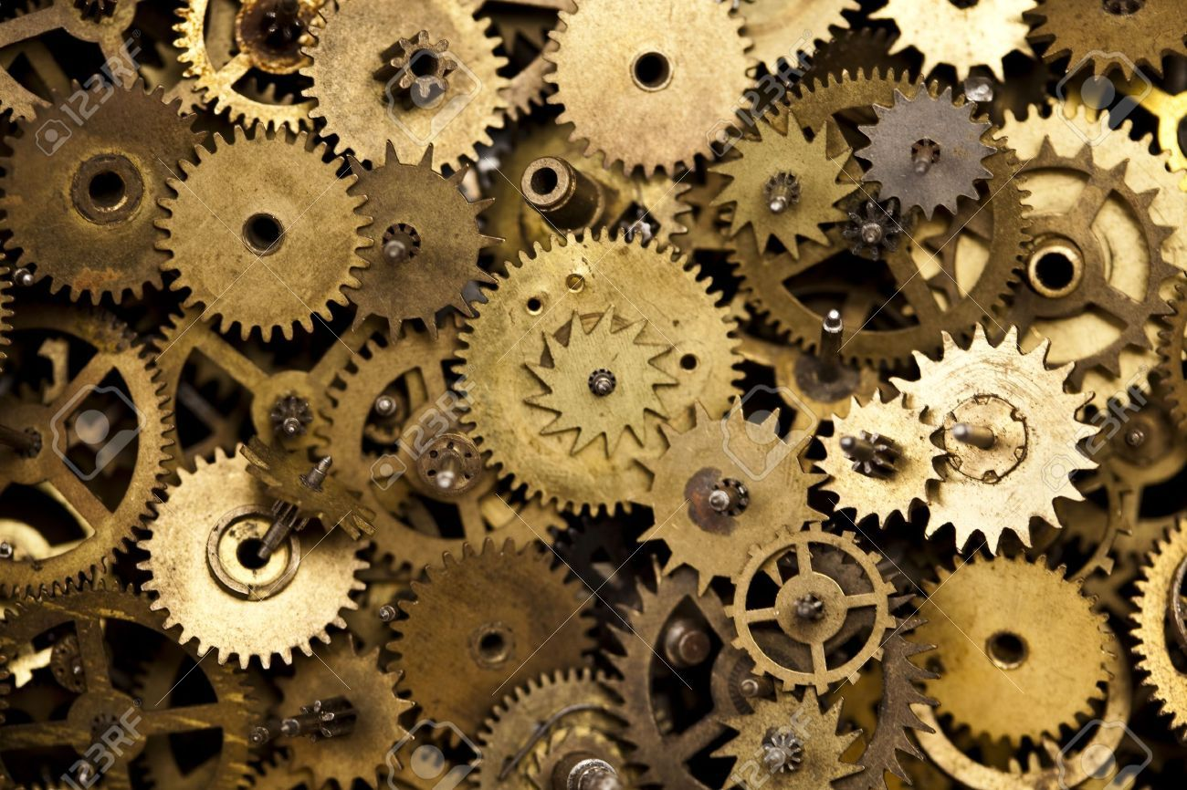 Old Clock Gears : Machine gears google search robot pinterest