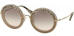 Óculos de sol Miu Miu Pavé Story Evolution 08RS Marfim   SUNGLASSES ... 9f09273408