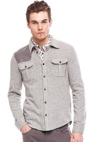 Quilted Patch Shirt Jacket - New Arrivals - Mens - Armani Exchange