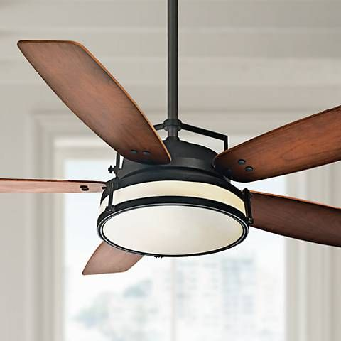 54 casablanca stealth industrial rust led ceiling fan 5m256 54 casablanca stealth industrial rust led ceiling fan 5m256 lamps plus in store availability aloadofball Images