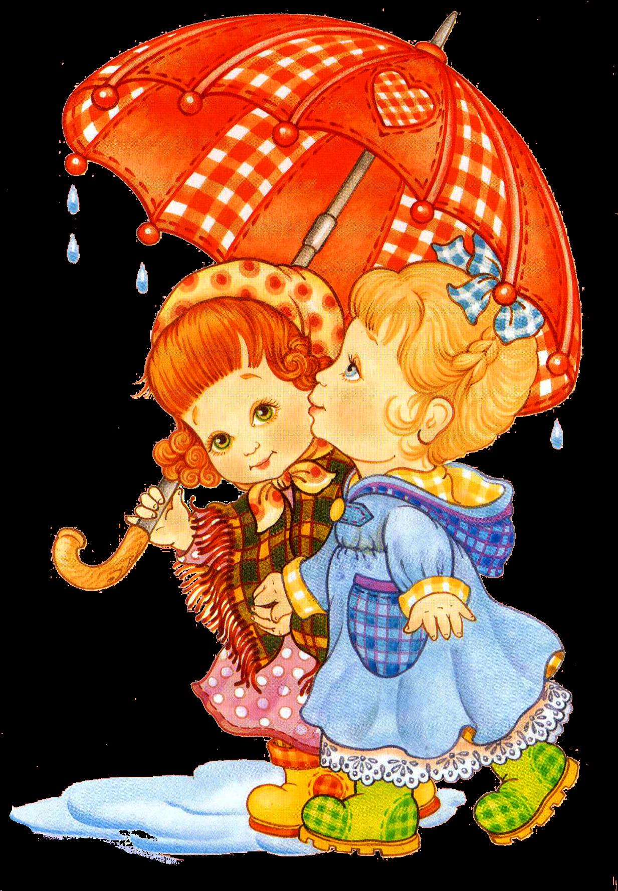 Рисунок прогулка под дождем | Детские картинки, Иллюстрации