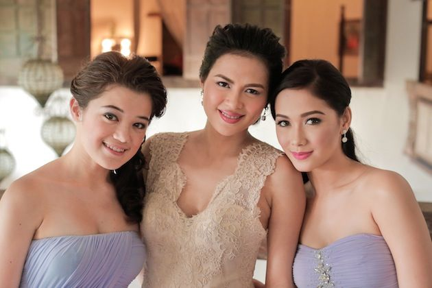 best celebrity brides maid gowns in the philippines