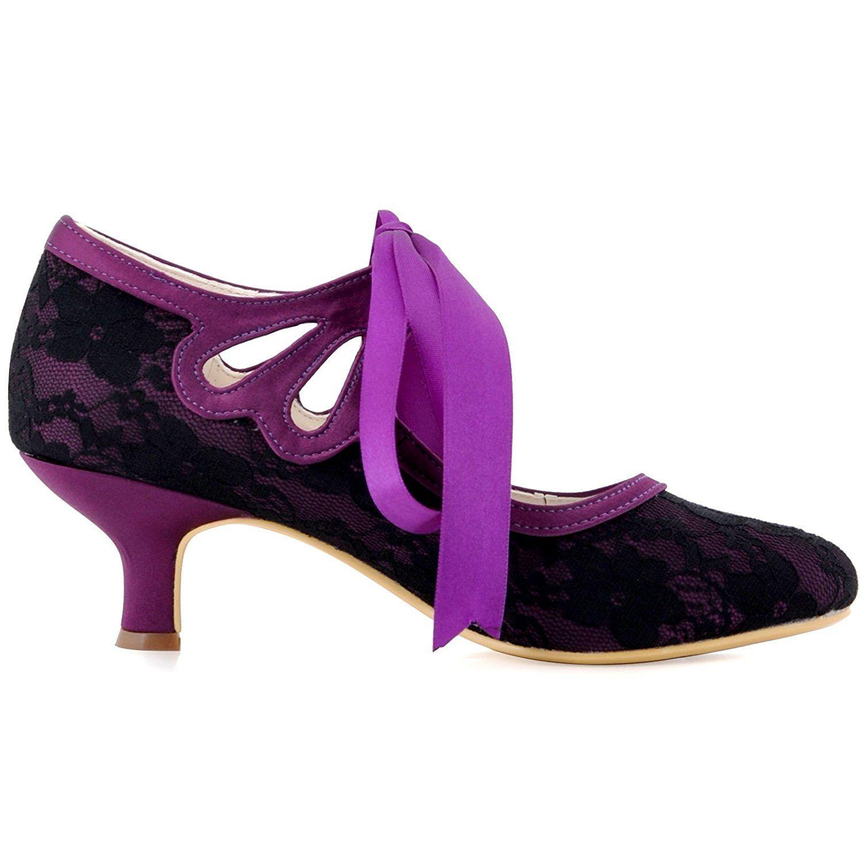 Atractivo Tacón Bajo Los Zapatos De Vestido De Novia Inspiración ...