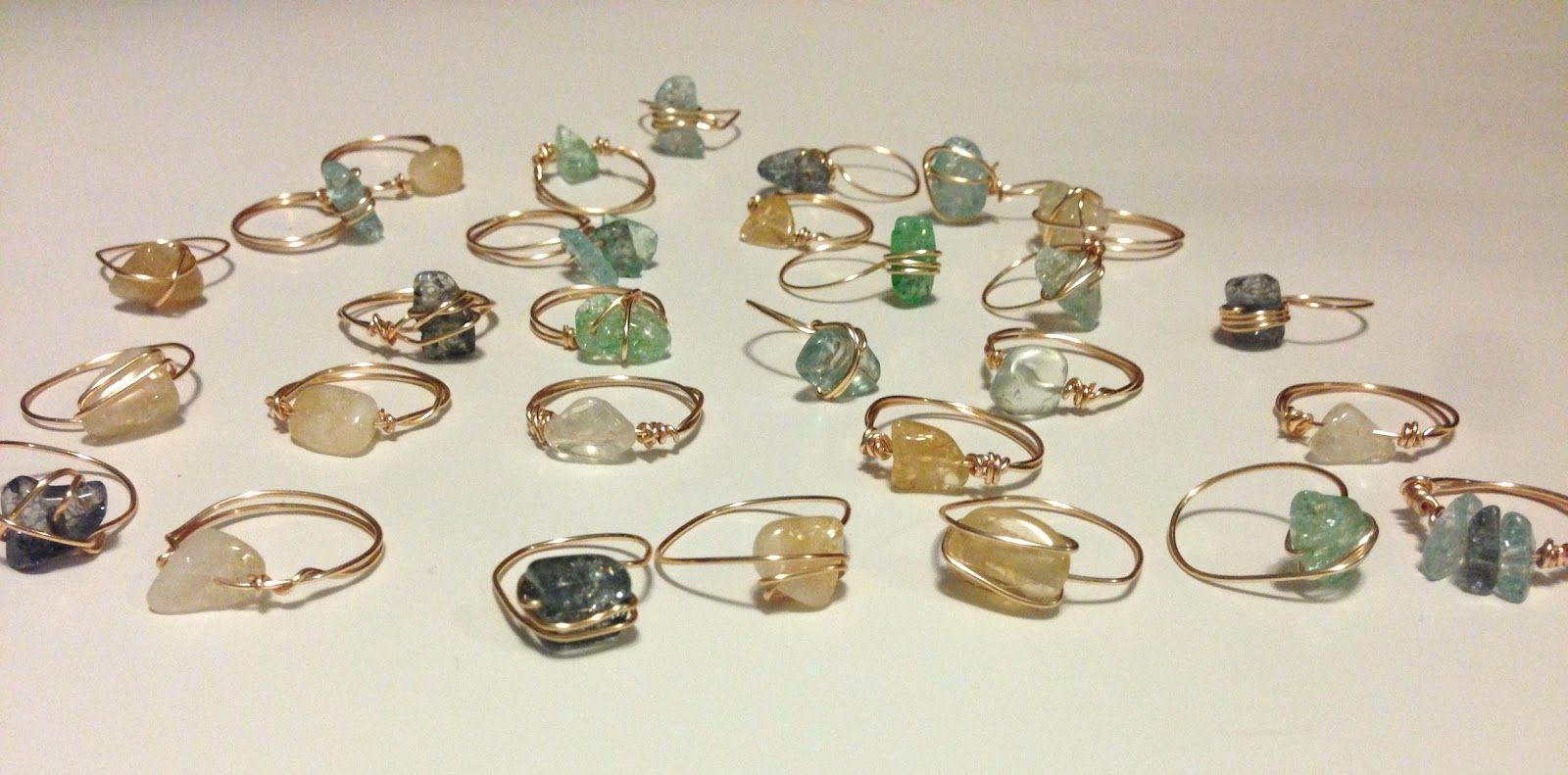 Charming How To Make A Wire Ring With Beads Pictures Inspiration ...