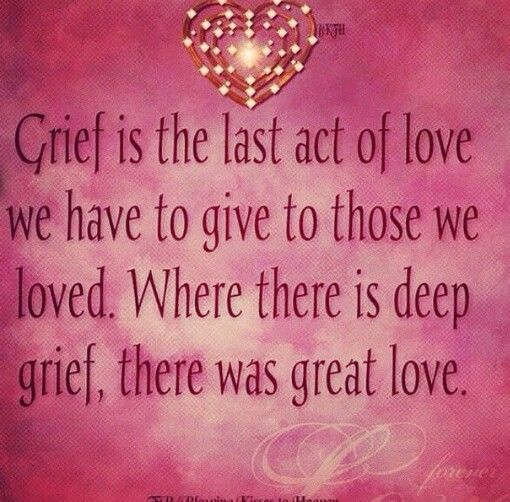 Famous Quotes About Death Of A Loved One: Deep Grief = Great Love