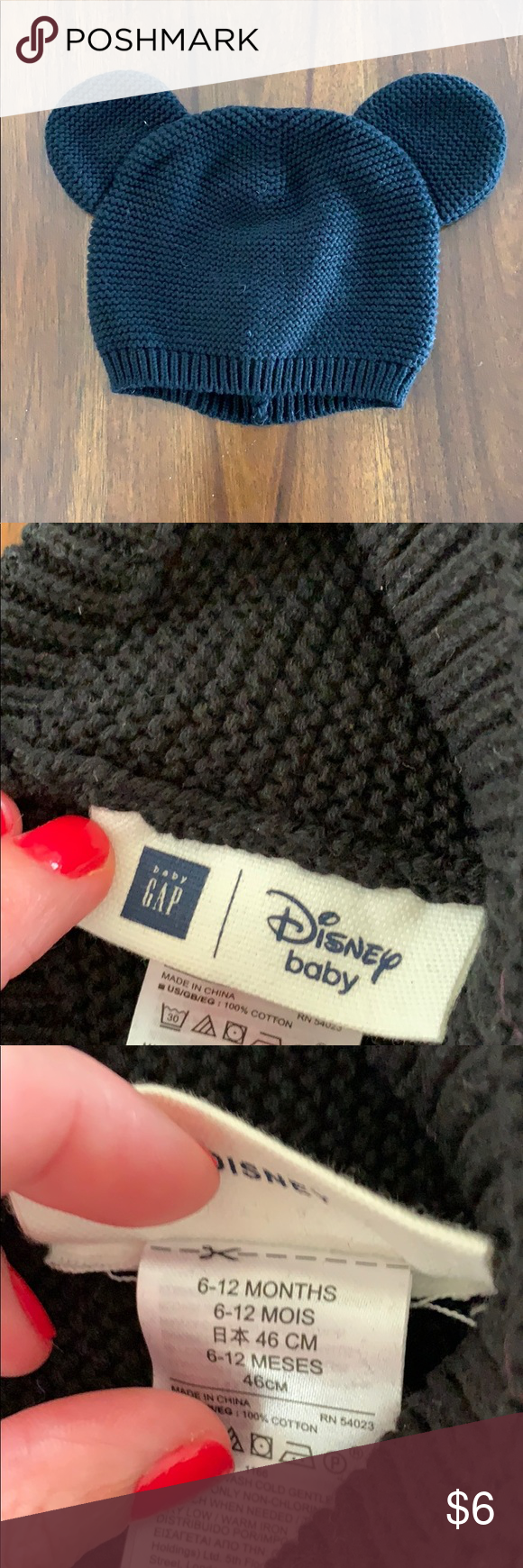 c428956eda7 Gap black Mickey Mouse ears knitted beanie Gap black Mickey Mouse ears  knitted beanie in great