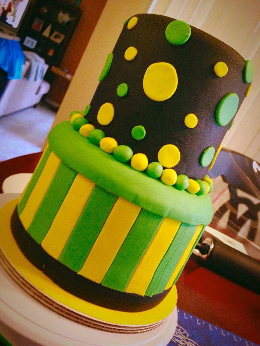 Awesome Birthday Cake Using Jamaican Flag Colors With Images 40Th Funny Birthday Cards Online Overcheapnameinfo