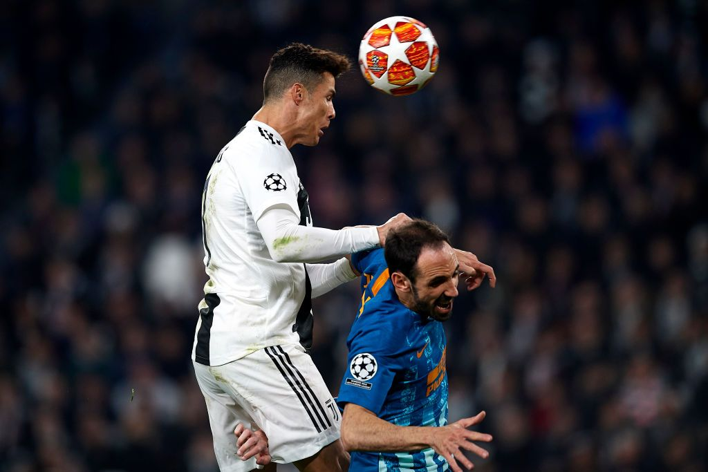 Cristiano Ronaldo Of Juventus Shooting To Goal Front Juanfran Of Con Immagini