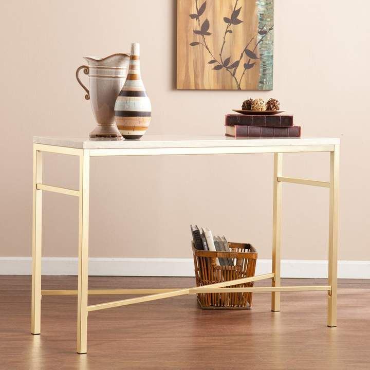Enjoyable Zipcode Design Lindsey Console Table In Travertine Home In Machost Co Dining Chair Design Ideas Machostcouk