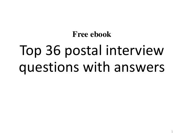 Top 36 postal interview questions with answers pdf Job\/Resume - resume interview questions