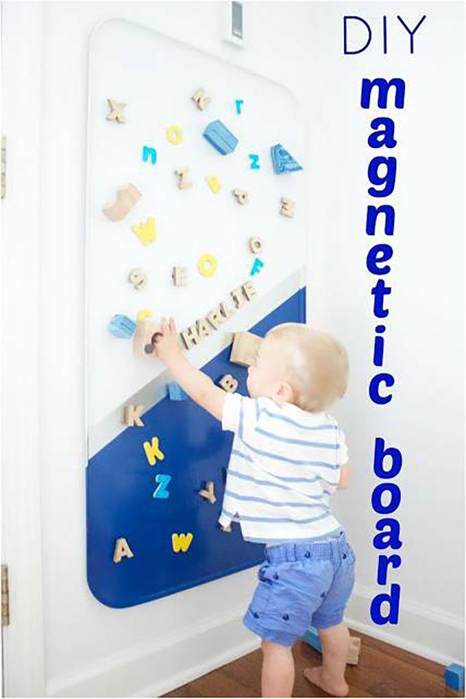 DIY Magnetic Board - | Playroom Organization | Pinterest | Playroom ...