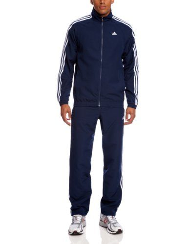 adidas Herren Trainingsanzug Essentials 3 Stripes Woven, Collegiate  Navy/White, 3, X20566: Amazon.de: Sport & Freizeit