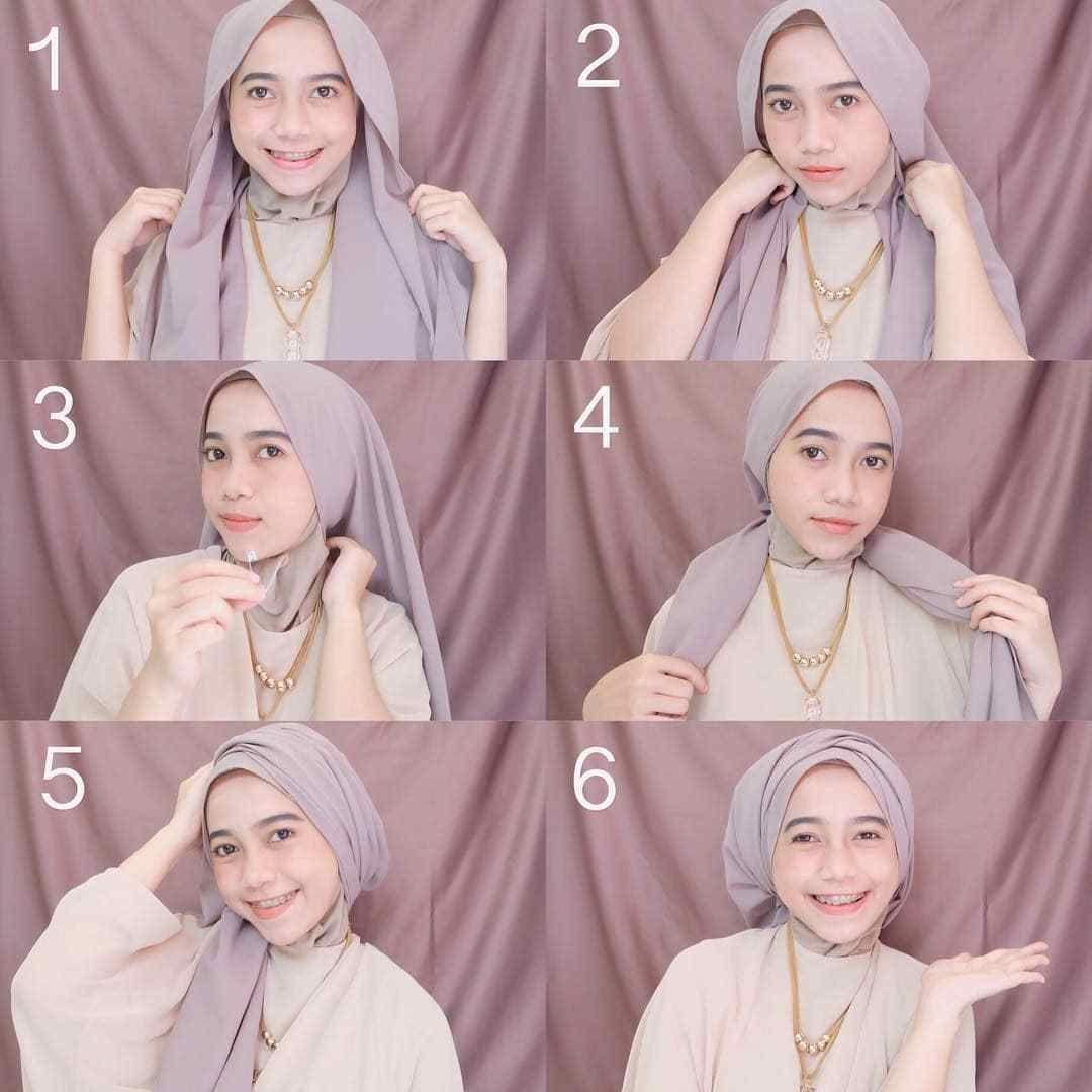 Tutorial Hijab Pashmina Untuk Perpisahan Pesta Gaun Dan Jilbab