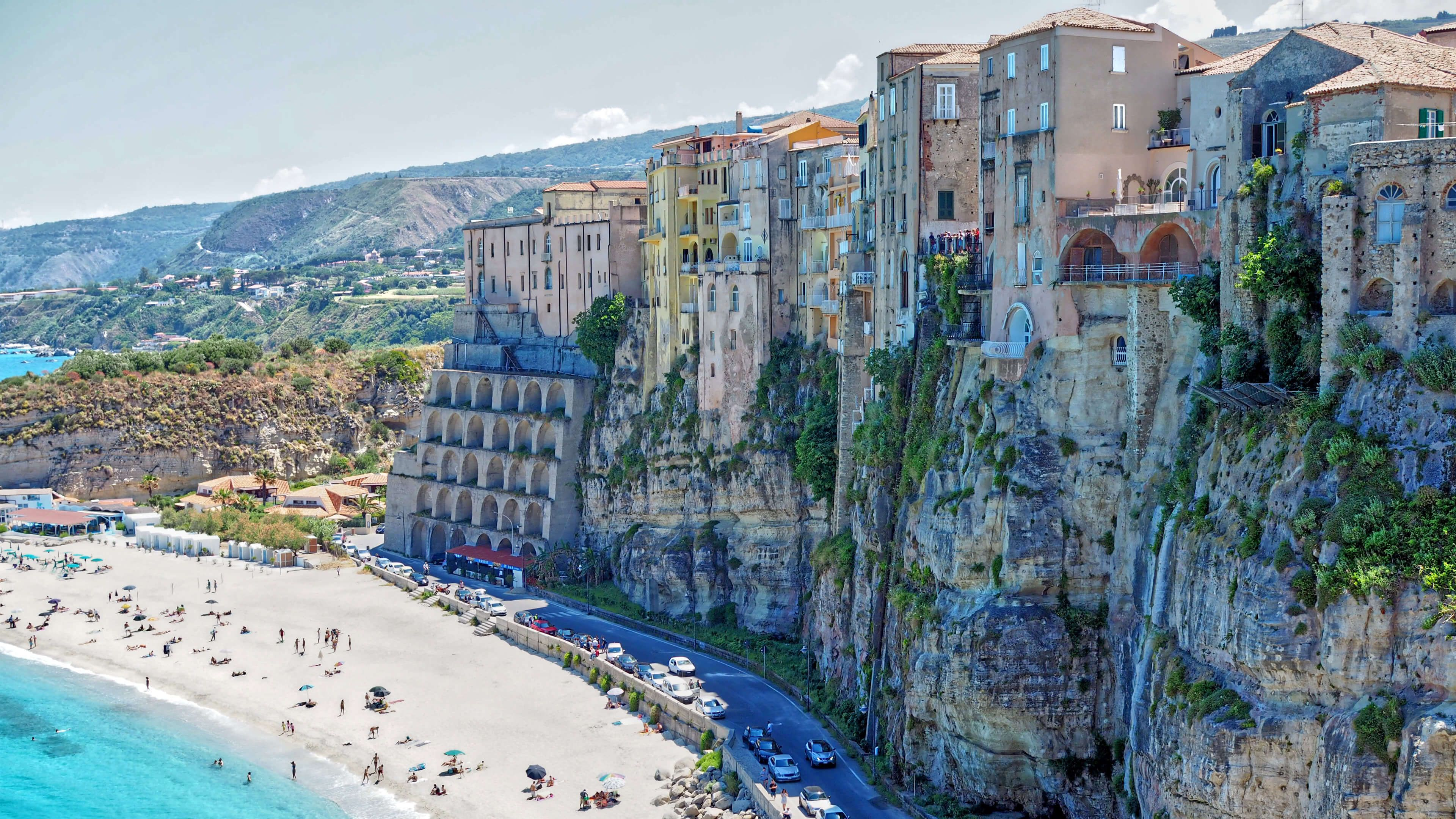 Beautiful Italian Town Of Tropea Background Images Wallpaper Desktop Background Images
