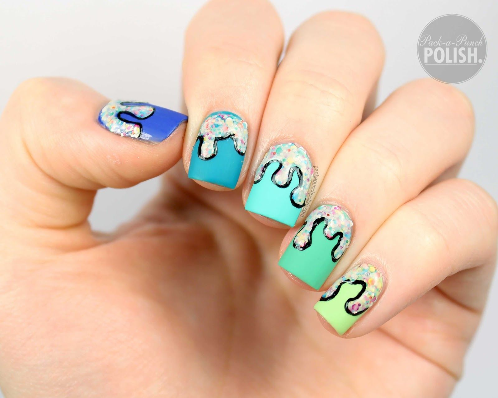 Ombre Frosting Drip Nail Art Tutorial Gradientombresponged