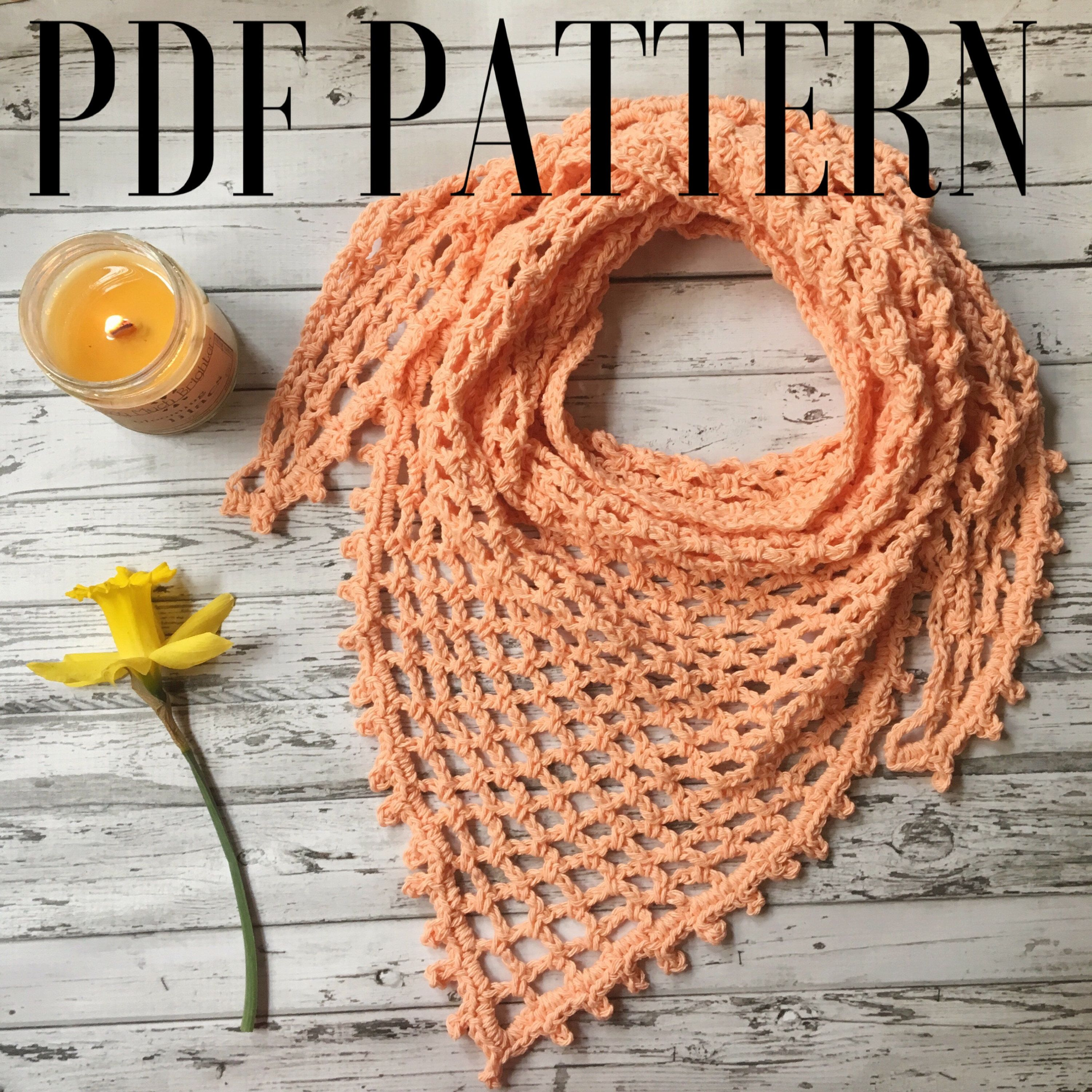 Crochet triangle scarf pattern spring scarf tutorial crochet crochet triangle scarf pattern spring scarf tutorial crochet tutorial pattern easy boho bankloansurffo Images