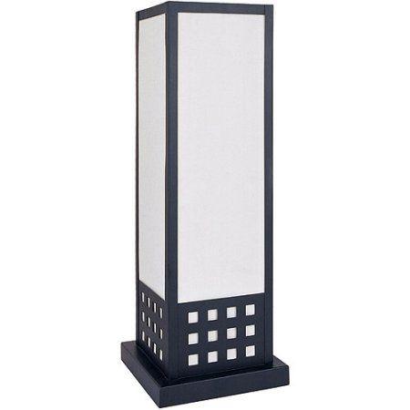 ORE International 22 inch Square Table Lamp, Black