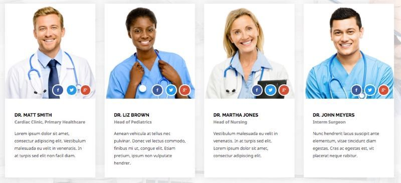 Dedicated Staff Members  Listing Doctors  Web Design