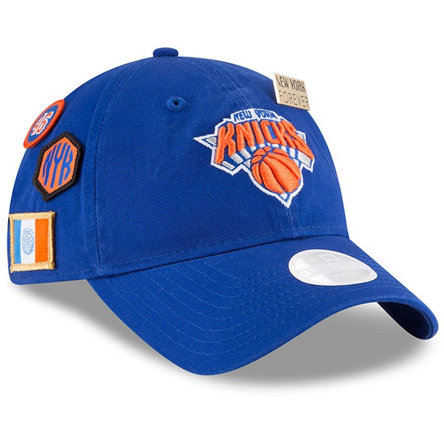 Women s New York Knicks New Era Royal 2018 Draft 9TWENTY Adjustable ... f2f0a1612