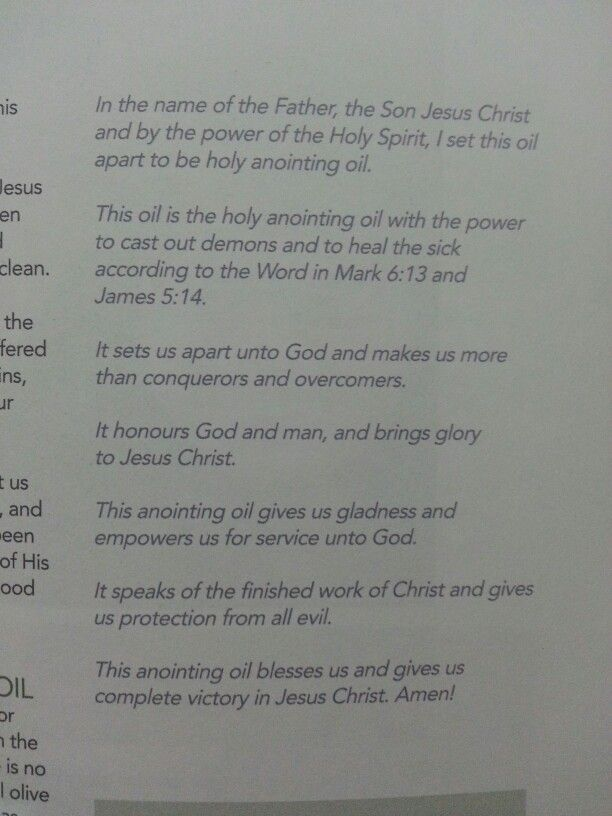 Anointing oil prayer | Anointing oil prayer, Prayers for ...