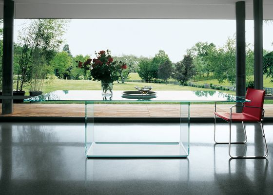 Valencia Dining Table By Sovet Italia Glass Dining Table