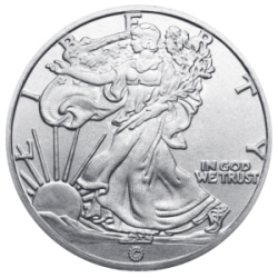 Walking Liberty 1 2 Ounce Silver Round Silver Bullion Silver Rounds Silver
