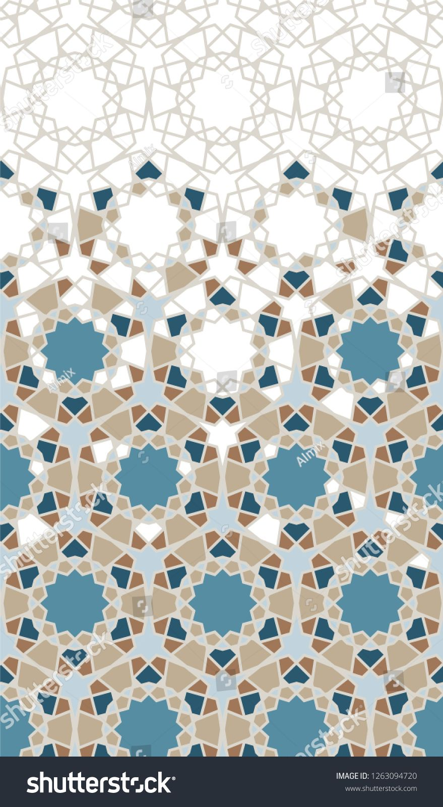 Arabic Pattern Arabesque Repeating Vector Border Geometric Halftone Texture With Color Tile Disintegrat Arabic Pattern Sacred Geometric Pattern Geometric Art