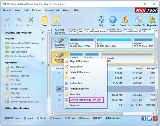 convert-mbr-to-gpt | disk management | Windows server
