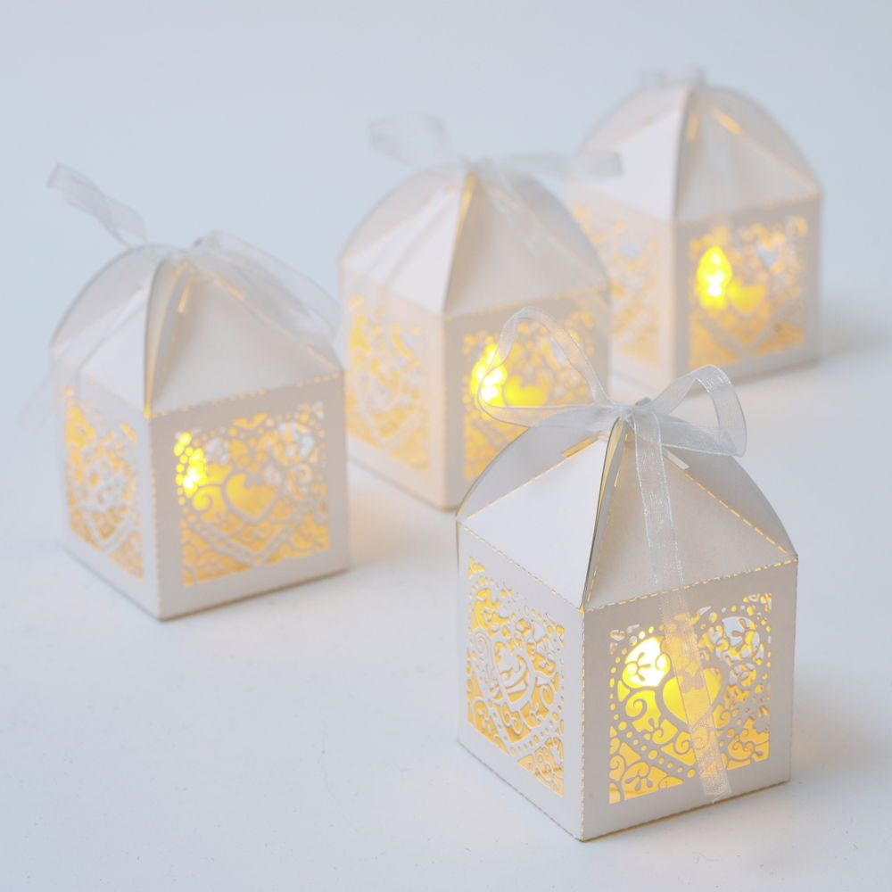 Brand new - 50 X clear glass chunky tea light holder (exactly the ...