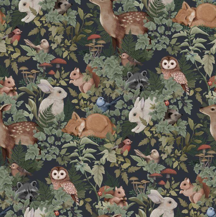 Woodlands Wallpaper - Dark