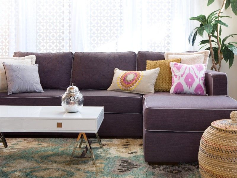 Image Result For Purple Sectional Sofa Chaise
