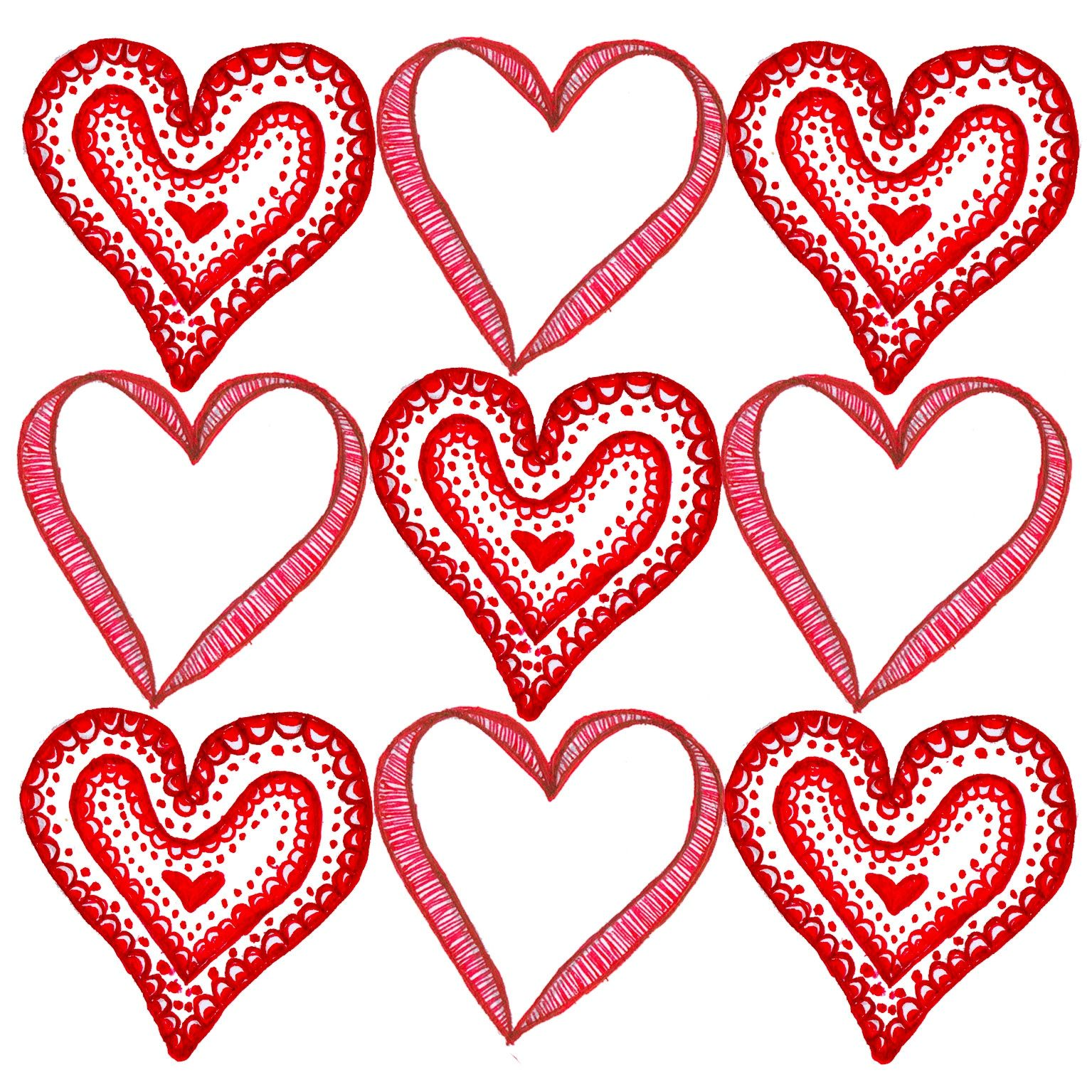 9 Hearts Valentines Day Card Template For Pages Projects To Try