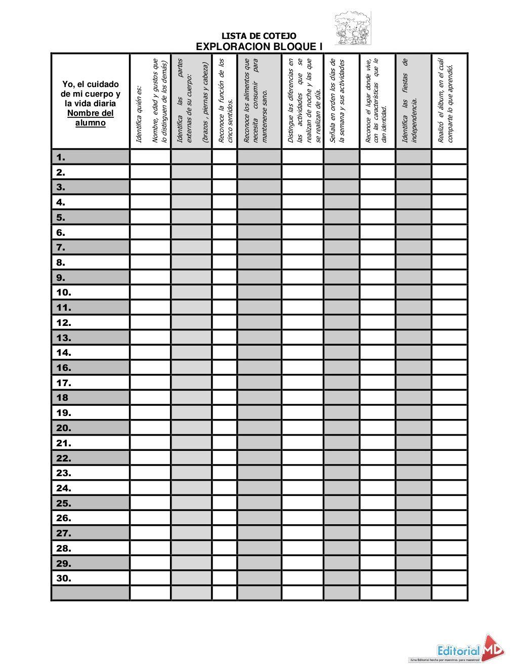 Listas de cotejo de primaria in 2020 powerpoint word