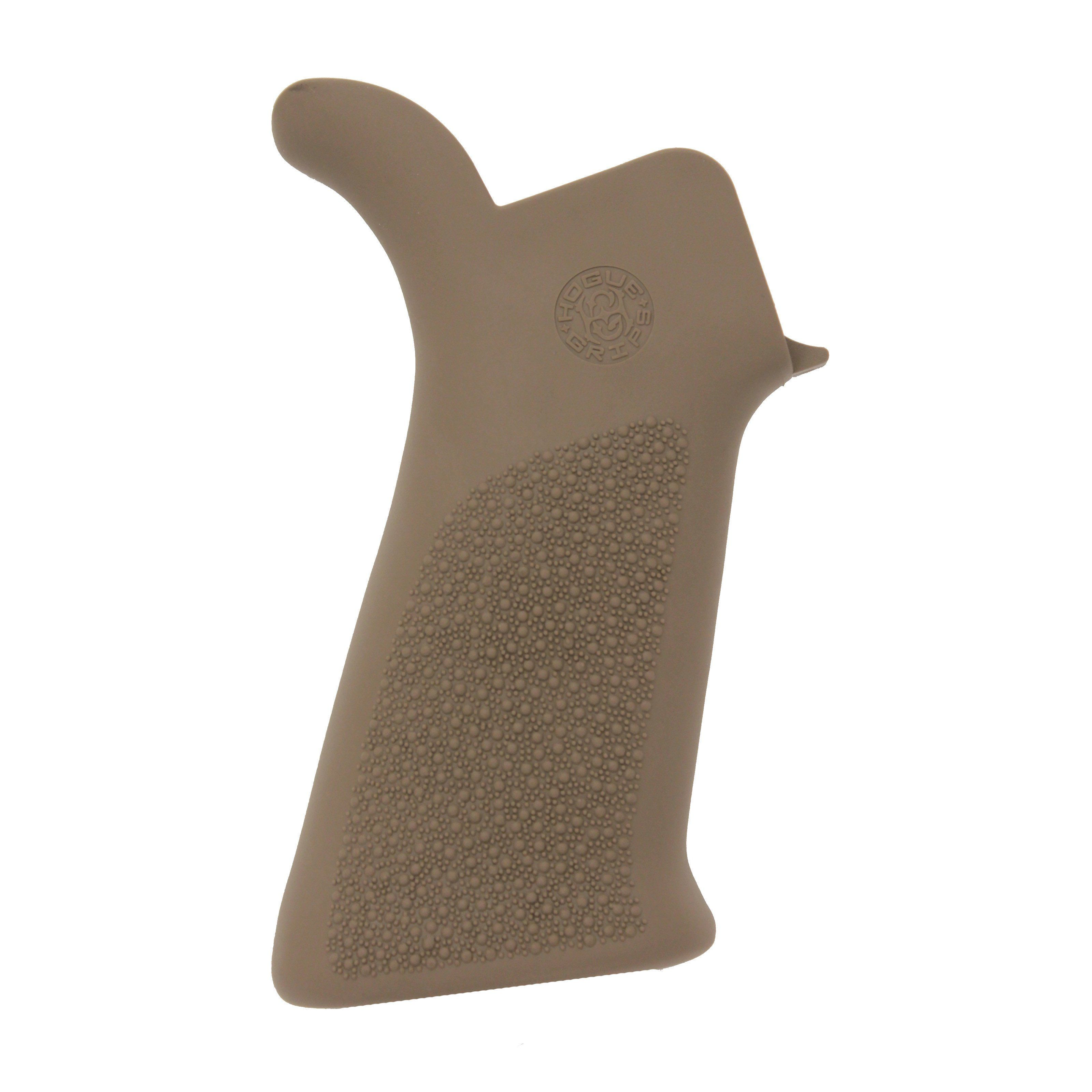 Hogue AR-15 Rubber Grip Beavertail No Finger Grooves Flat