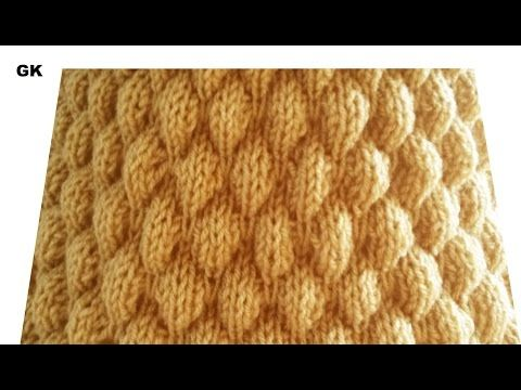 How to knit air bobble stitches 720p - YouTube | Knitting ...