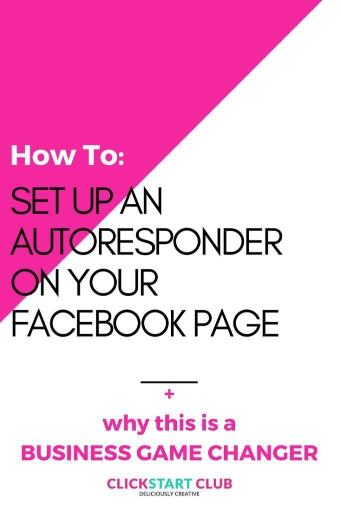 Did you know that you can set up an autoresponder on your Facebook page? Here's how to set it up, and why it could be a business game changer.