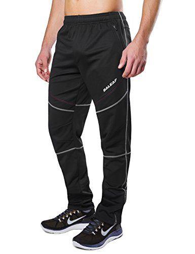 Men/'s Winter Fleece Cycling Pants Thermal Outdoor Windproof Sports Long Trousers
