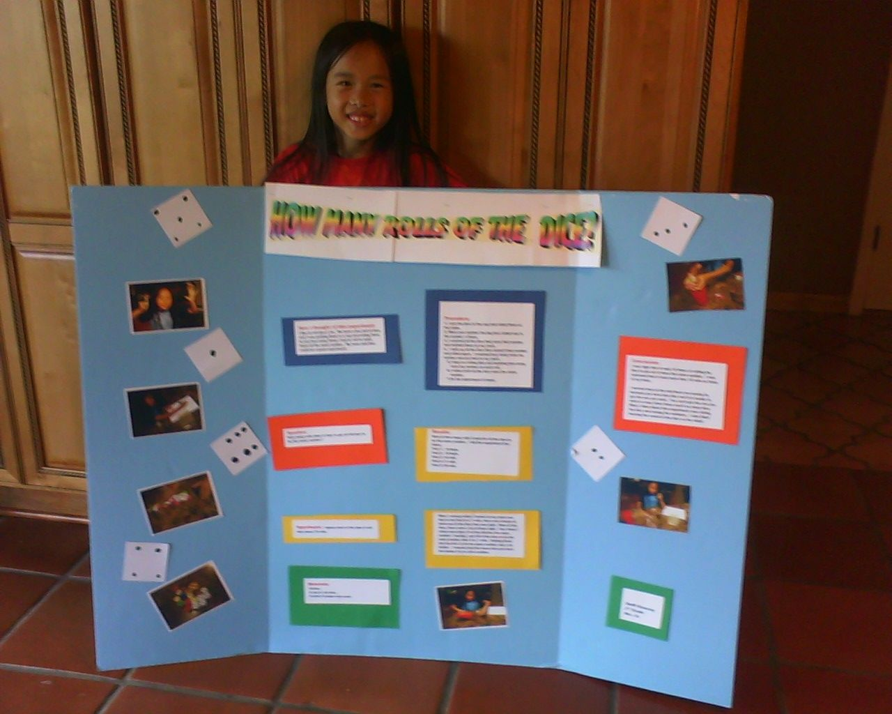 Science Fair Rolling Dice Probability Experiment