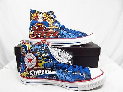 Details about Converse Superman Man of Steel Shoes Sneakers
