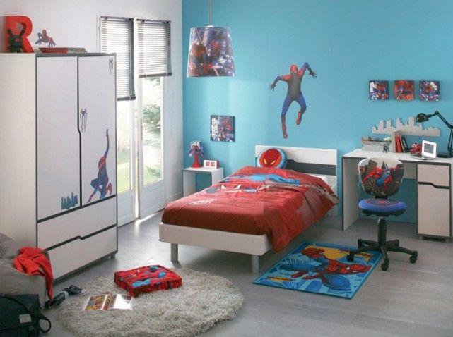 chambre garcon spiderman