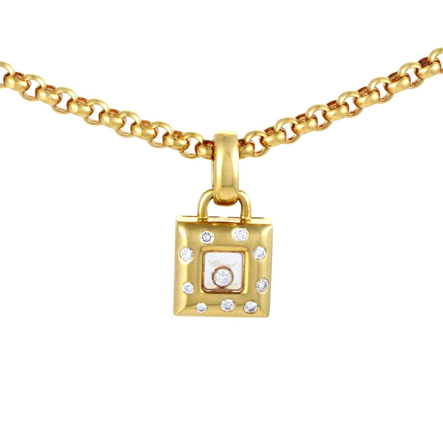 diamond gold square pendant image yellow ladies from elements necklace