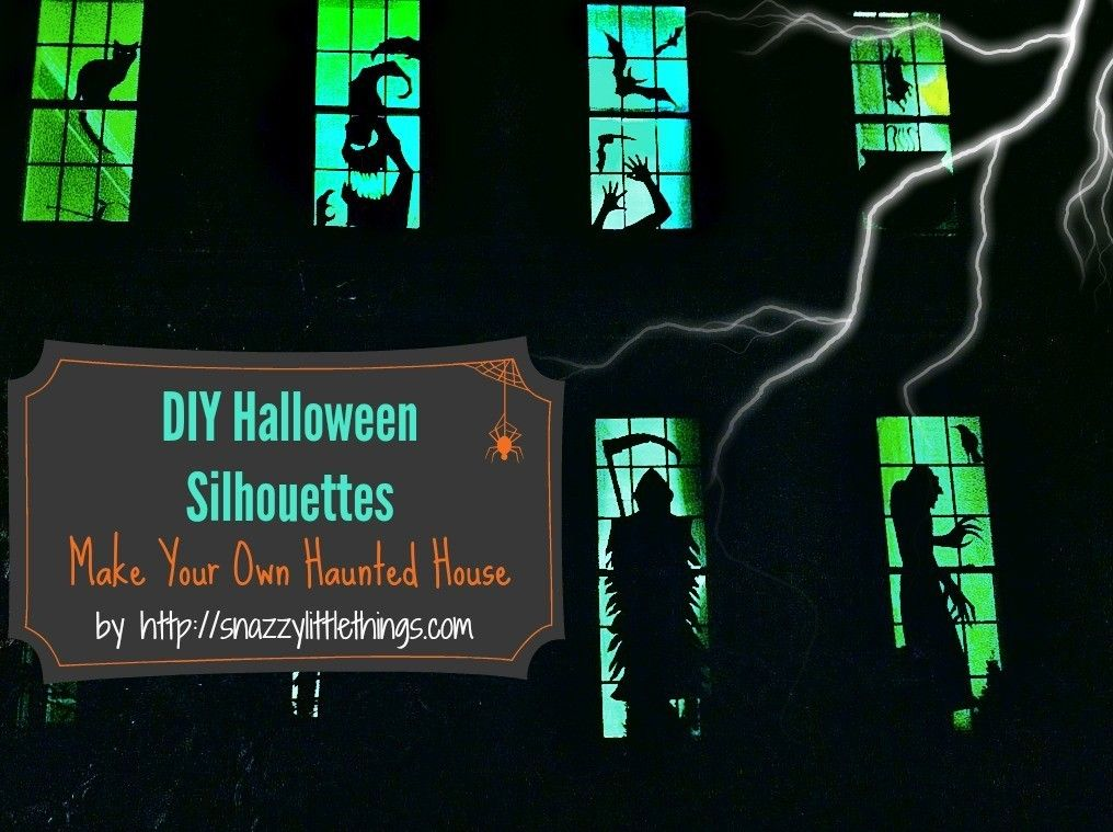 Halloween Window Silhouettes Free Download Halloween window - halloween window ideas