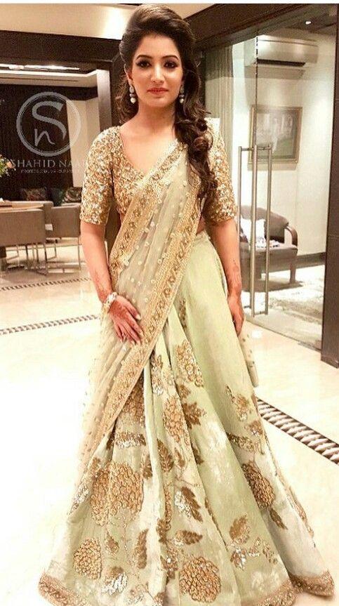 Lovely Dress Up Indian Wear Hairdo Wedding Indian Wedding
