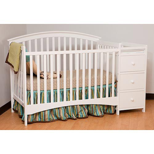 Awesome Walmart: Storkcraft Bradford Fixed Side Convertible Crib And Changing Table,  White