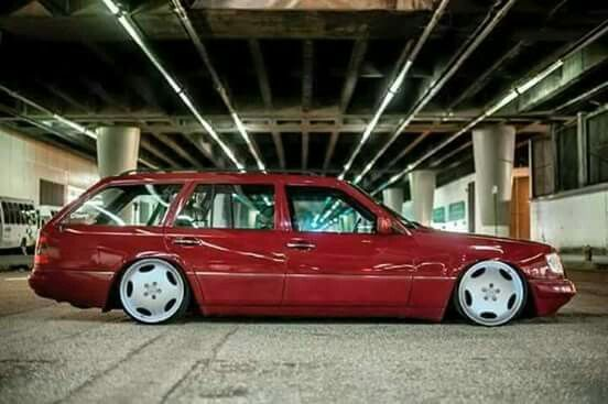 Nice Stance This Is The Way The W124 Mercedes Benz Wagon Should