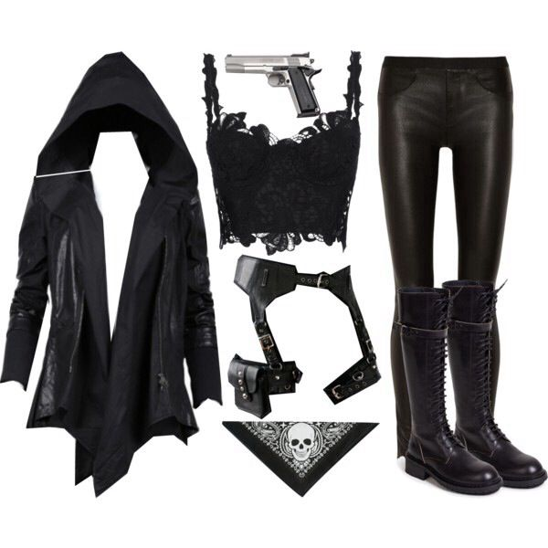 This is what I would totally wear if I was a demon hunter- outfit idea