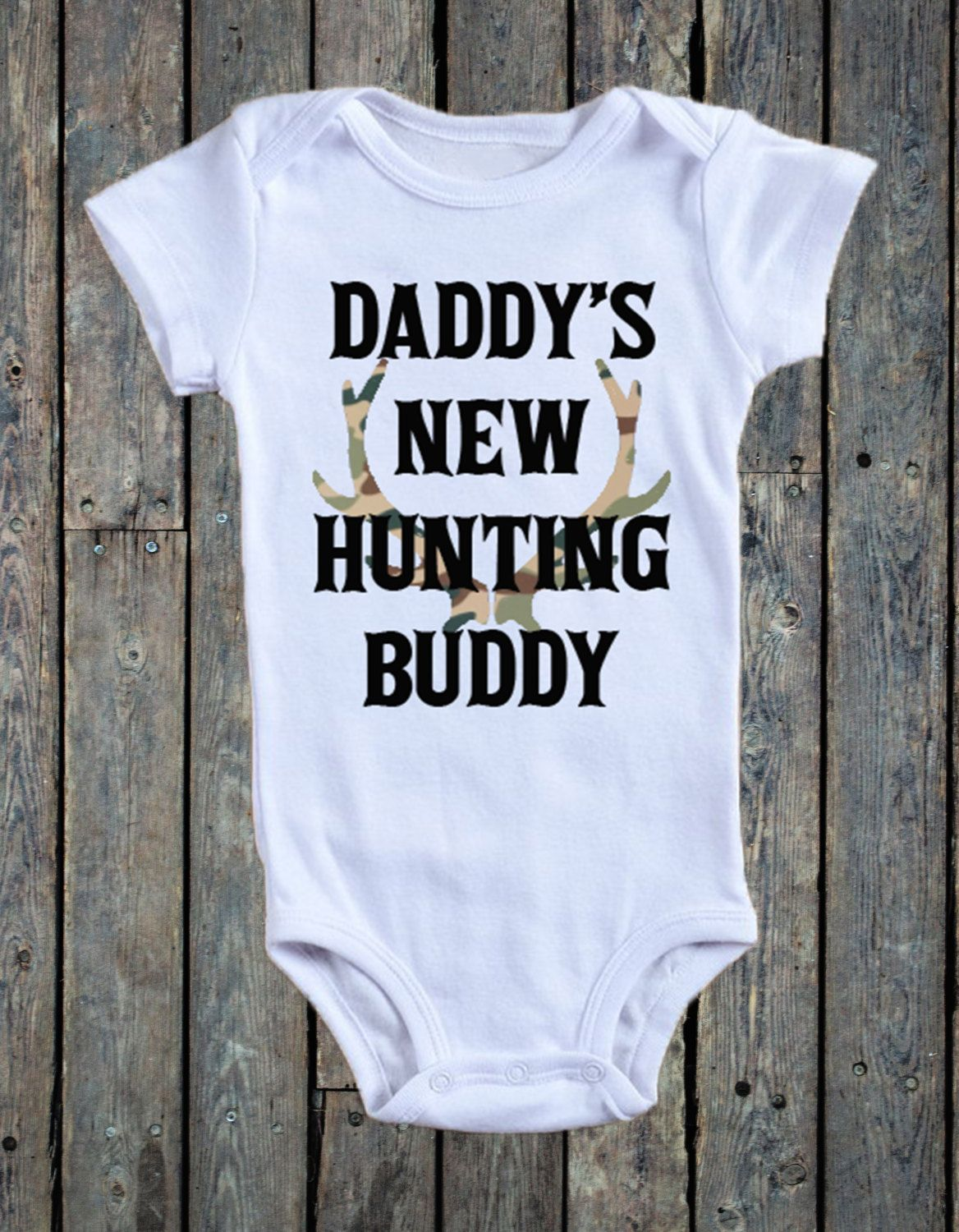 f01c4a0a83ccc Daddy's New Hunting Buddy Onesie®/ Hunting Onesie®/ Deer Onesie®/ Camo  Onesie®/ Baby Boy Onesie®/ Baby boy bodysuit/ dove hunting/ by  RustikBoutique on Etsy